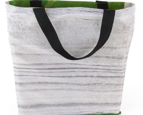 Ein Backdrop eignet sich für eine Recycling Tasche in Form eines Jutebeutels.