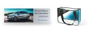Mercedes Benz Banner wird Recycling Einkaufstasche