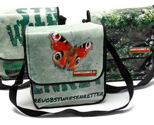 Streuobstwiesenretter - Bembel with Care: Upcycling Tasche aus alter Werbeplane