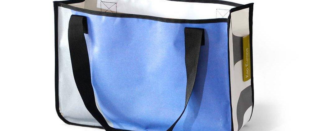 Shopping Bags aus PVC-Bannern von der Frankfurter Messe