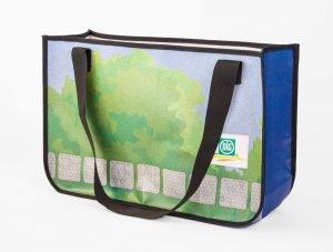 Wiederverwertung eines PLKW-Plane der DLG Deutsche Landwirtschafts-Gesellschaft zur Recycling Shopping Bag