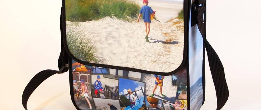 Urlaubsbilder auf einer Tasche aus Fronlit