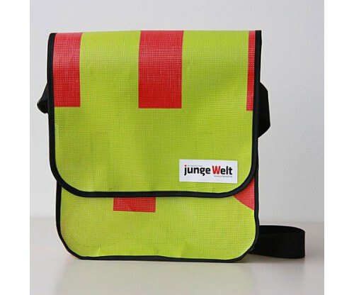 Recycling-Tasche vom Verlag 8. Mai, Junge Welt