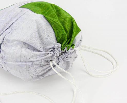 Recycling Tasche: Stoff eignet sich sehr gut für einen Turnbeutel