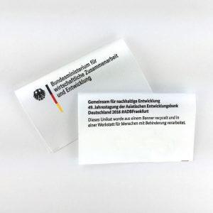 Label-Fahne die bei Gluecksband.de gedruckt wurde