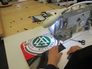 Fertigung der Upcycling Messanger Bags für den DFB - Der Fan Club Nationalmannschaft