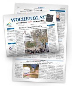 Artikel im Mannheimer Wochenblatt über die Allee der Innovationen und die Verarbeitung der Banner in der Lebenshilfe zu Recycling Taschen